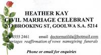 Visit Heather Kay Civil Celebrant
