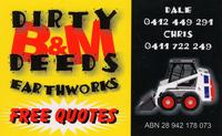 Visit B&M Dirty Deeds Earthworks