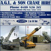 Visit A.G.L & Son Crane Hire